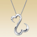 Happy Valentine's Day. And here is a necklace to remind you of your big fat behind…