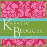 Kreativ Blogger Award Warning: Do not read this if you are my husband