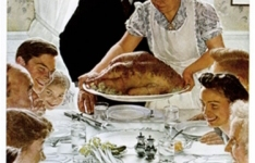Norman Rockwell can take the turkey and stuff it!