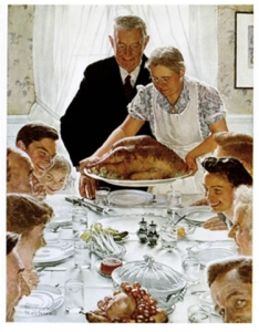 Thanksgiving Freedom from Want1 234x300 Norman Rockwell can take the turkey and stuff it!