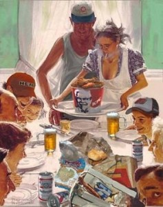 Thanksgiving reality1 237x300 Norman Rockwell can take the turkey and stuff it!