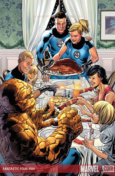 Fantastic Four Rockwell Thanksgiving Norman Rockwell can take the turkey and stuff it!