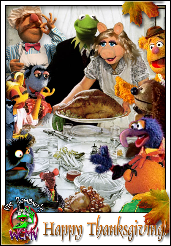 Muppet Rockwell Thanksgiving by Vic Romano Norman Rockwell can take the turkey and stuff it!
