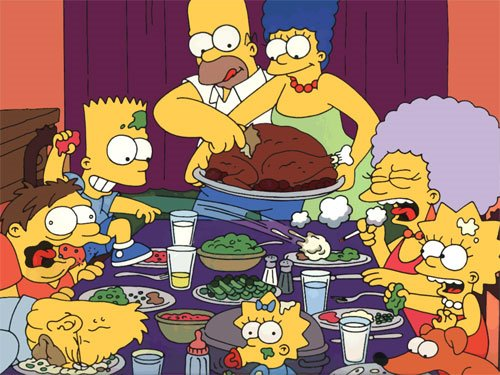 Simpsons Rockwell Thanksgiving Norman Rockwell can take the turkey and stuff it!