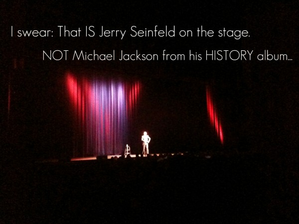 Jerry Seinfeld on stage 600x450 Jerry! Jerry! Jerry!