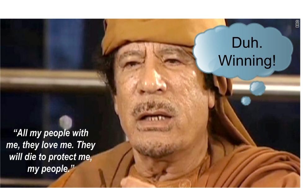 Gaddafi WTF Wednesday? Duh. Winning!