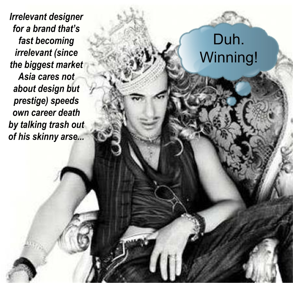 John Galliano WTF Wednesday? Duh. Winning!
