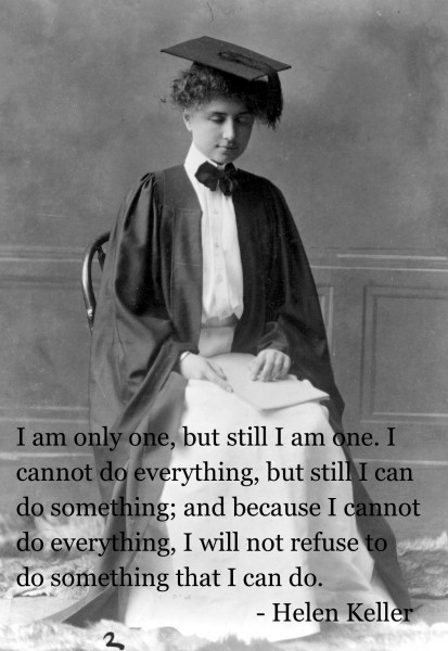 Helen Keller FTW. Absolutely no boobage required.