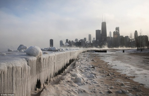 Chicago ice town 600x387 Polar Vortex vs Tardis